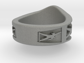 Freddie Mercury Ring in Gray Professional Plastic: 1.5 / 40.5