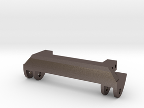 SCX10 Leaf Spring Hanger in Polished Bronzed Silver Steel