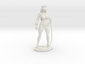 Major Kyra Figurine with Whip 150mm in White Premium Versatile Plastic
