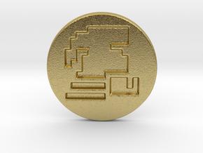 Runescape Ironman Pin in Natural Brass