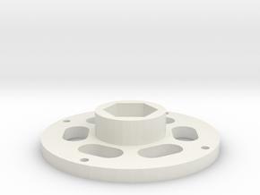 1.9 12mm rim hub in White Natural Versatile Plastic: 1:10