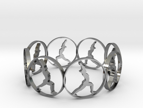yoga ring in Polished Silver