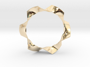 Folded Hexagram in 14k Gold Plated Brass: Small