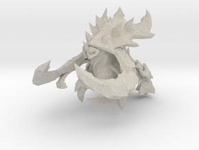 Starcraft Ultralisk 80mm miniature monster in Natural Sandstone