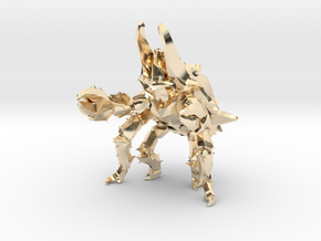 Pacific Rim Onibaba Kaiju Monster Miniature in 14k Gold Plated Brass
