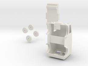 Post Van Kit (H0) in White Natural Versatile Plastic