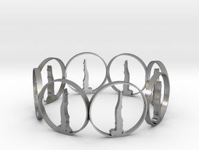 7 ring in Natural Silver
