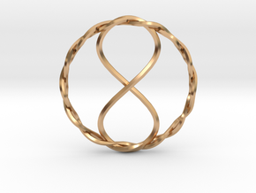 Infinity Pendant in Polished Bronze