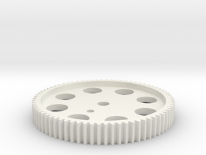 OT-85 SPUR GEAR FOR KYOSHO OPTIMA MID in White Natural Versatile Plastic