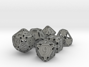 Large Premier Dice Set in Gray PA12