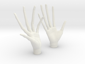 alien professor hands 1/6 scale in White Natural Versatile Plastic