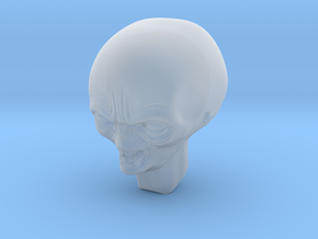 smiling alien professor head 1/6 scale in Smooth Fine Detail Plastic