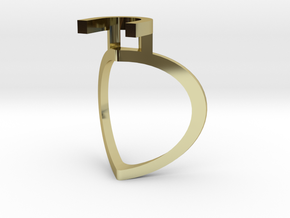 Chillida Engagement Ring in 18K Yellow Gold: 4.5 / 47.75