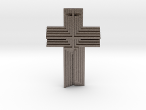 Scarpa Cross in Polished Bronzed Silver Steel