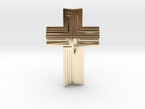 Scarpa Cross in 14k Gold Plated Brass