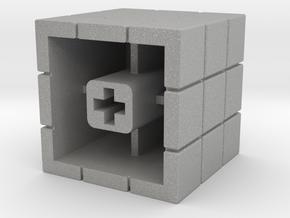Artisan Cherry keycap Rubiks Cube in Aluminum
