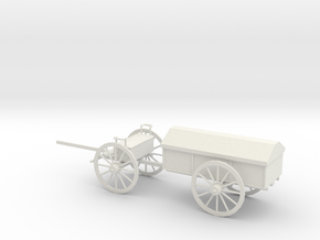 1/48 Scale Civil War Artillery Battery Wagon in White Natural Versatile Plastic