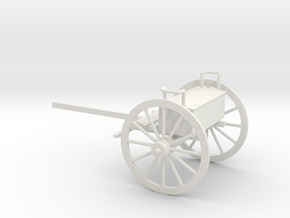 1/48 Scale Civil War Artillery Limber in White Natural Versatile Plastic