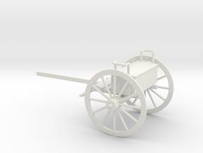 1/48 Scale Civil War Artillery Limber in White Natural Versatile Plastic