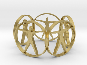 7 ring in Natural Brass
