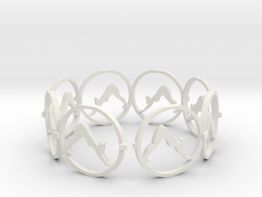 downward facing dog yoga ring in White Natural Versatile Plastic