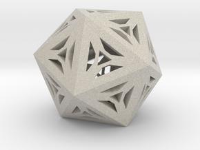Decorative Icosahedron in Natural Sandstone