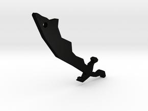 Runescape Dragon Scimitar Keychain in Matte Black Steel