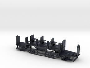 Nantes tramway Brill truck (frame only) - Ho 1:87 in Black Professional Plastic