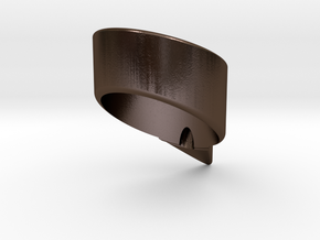 Om ring in Polished Bronze Steel