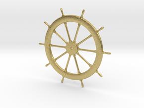 Schooner Zodiac Steering Wheel in Natural Brass
