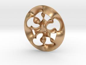 """""""Nine rings"""" pendant in Natural Bronze"""