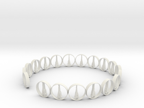 six size ring 18.11 mm (1) in White Natural Versatile Plastic