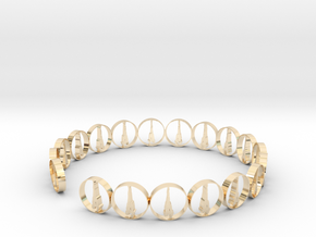 six size ring 18.11 mm (1) in 14k Gold Plated Brass