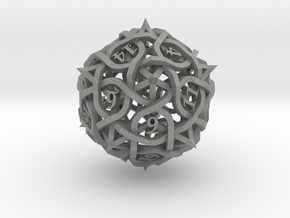 Thorn d20 in Gray Professional Plastic