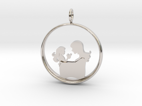 Mother & Daughter Pendant 3 -Motherhood Collection in Platinum