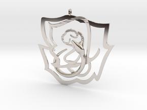 Rose snake in Platinum
