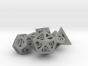Thoroughly Modern Dice Set in Gray Professional Plastic