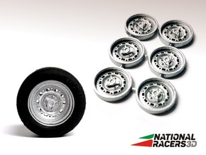 3D Wheel Inserts - Jaguar Dunlop Wheels in Smooth Fine Detail Plastic