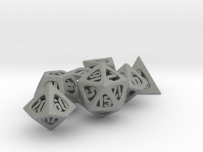 Thoroughly Modern Dice Set with Decader in Gray Professional Plastic