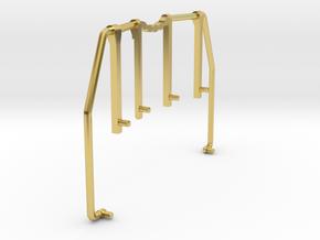 GE U36B walkway Handrail front-rear in Polished Brass