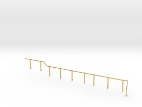 GE U36B walkway Handrail LH rear in Polished Brass