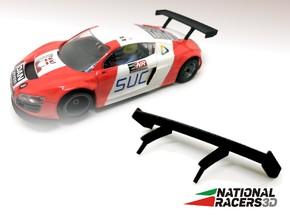 2x 3D Rear wing - NINCO AUDI R8 LMS in Black Natural Versatile Plastic