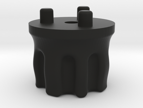 Emek/Etha 2 Bolt Cap - WARPED in Black Natural Versatile Plastic