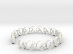 size 6 18.11 mm in White Natural Versatile Plastic