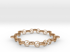 18.11 approximately size 6 ring in Natural Bronze (Interlocking Parts)