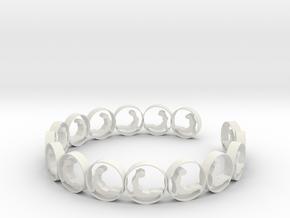 size 6 18.11 mm (3) in White Natural Versatile Plastic