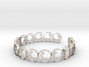 size 6 18.11 mm (3) in Rhodium Plated Brass