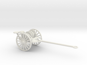 1/72 Scale Reel Roller M1909 M1 in White Natural Versatile Plastic