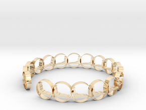 size 6 18.11 mm ring in 14k Gold Plated Brass
