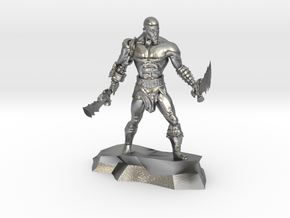 Kratos god of war classic miniature fantasy games in Natural Silver